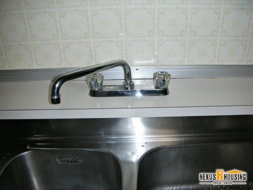 キッチン2ハンドル混合水栓 取り換え前