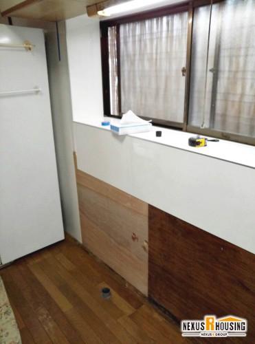 下地とキッチンパネル