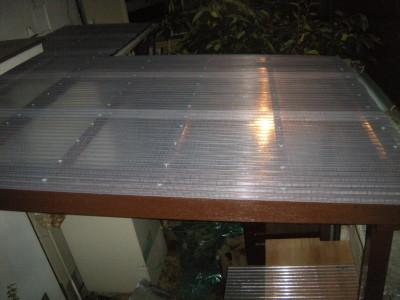 【屋根交換】庭テラス補修工事 事例