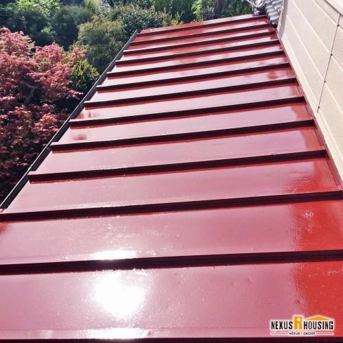 塗装完了後のトタン屋根