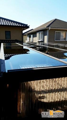 新しいカーポート屋根