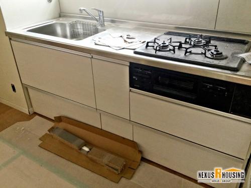 キッチン設備取り付け