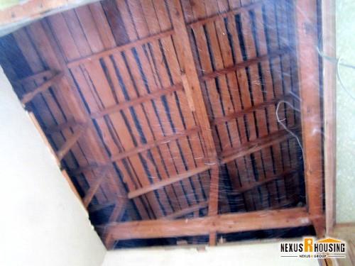 解体後の屋根