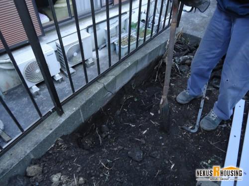 補修前のブロック塀