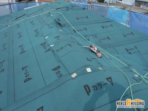 防水シート敷設