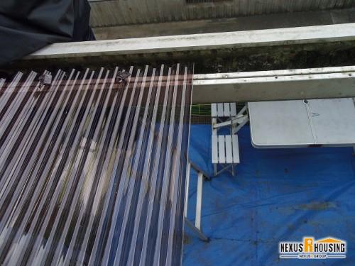 ポリカ屋根設置