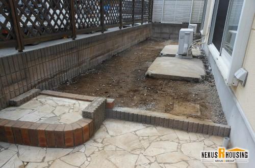 解体後の庭