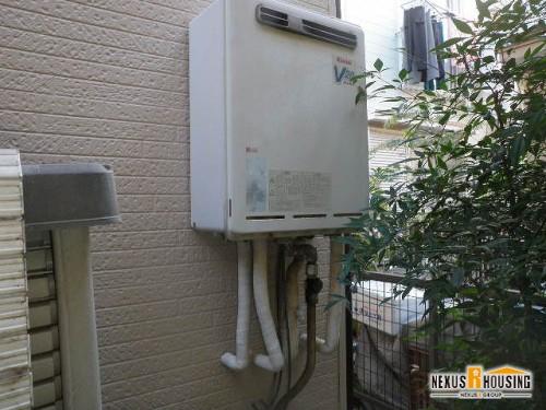 既存のガス給湯器