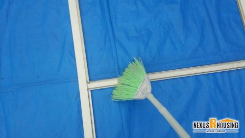 網枠を清掃