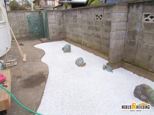 完成した石庭